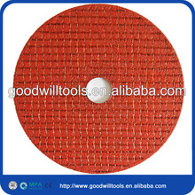 Red double net 7 grinder cutting disc for stainless steel