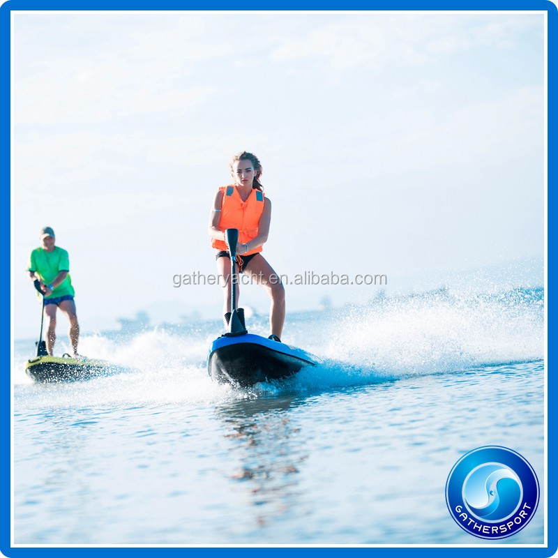 Gather sport 150cc blue color jet powered surfboard,carbon fiber jet power surfboard