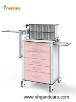 G-TA002 Medical Anaesthesia Trolley Made Of Aluminum Alloy Frame With High Loading Bearing