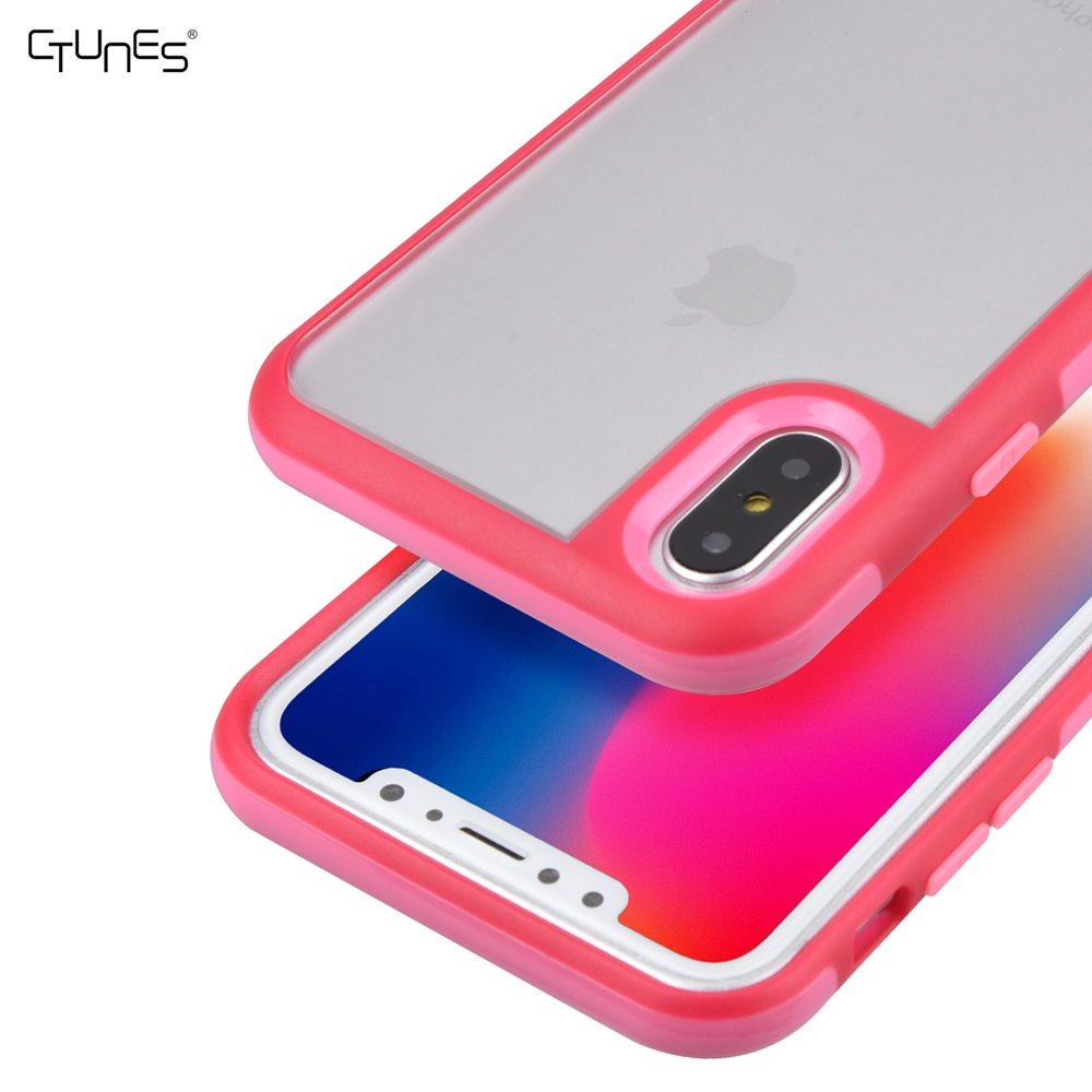 CTUNES Slim Fit Premium TPU Bumper With Shock Absorbing PC Protective Case for Iphone X