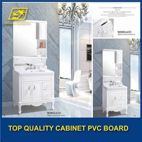 ISO PVC foam board/pvc bathroom cabinet sheet