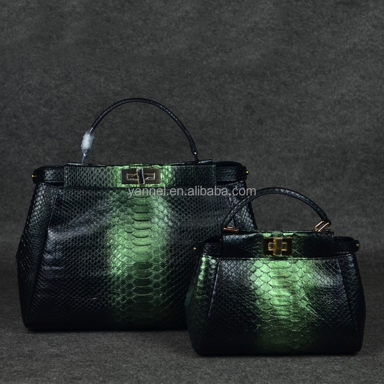 genuine lady python skin tote handbag_snake handbags_exotic handbag