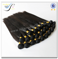 Wholesale top quality weaving machines sleek natural color unprocessed raw brazilian virgin human hair weave