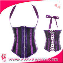 Fashion Womens Sexy leather Vintage Underbust Waist Training Corset