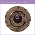 "PZ00590 wedding cheap wholesale custom 13"" galaxry glass charger plates"