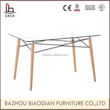 Z237 modern design glass center table glass banquet table/glass dining table