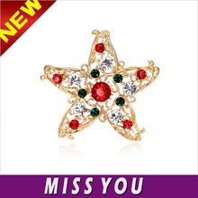 Alibaba hot sale Europe and selling high-grade Christmas Star corsage brooch pin