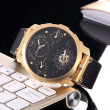 Men Big Dial Leather Brand Quartz Watches For Business Watch Manufacturer Supplier Exporter