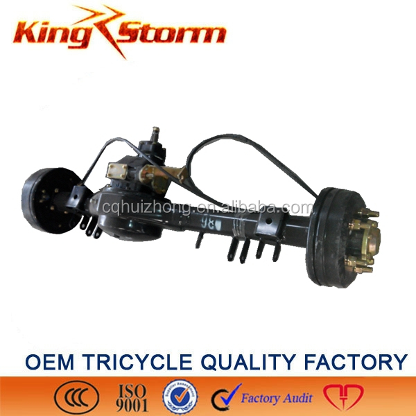 China King-Storm Cargo Motorcycle 180/220drum 4/5 hole big rooster electric tricycle electric motor driving rear axle
