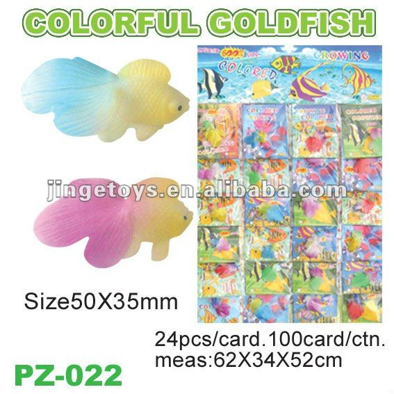 Magic Colorful Goldfish water growing Toy plastic toy