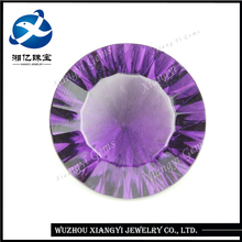 13mm Alibaba china wholesale crystal stone glass jewelry raw material purple red round millennium cut rough diamond