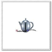T162 Single Ply Stainless Steel Egg Shape Tea Pot
