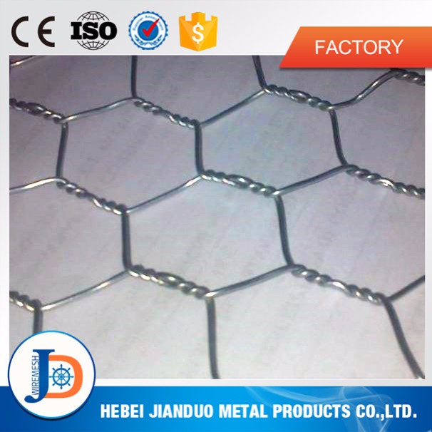 Low price and high quality 16 gauge galvanized hexagonal wire mesh