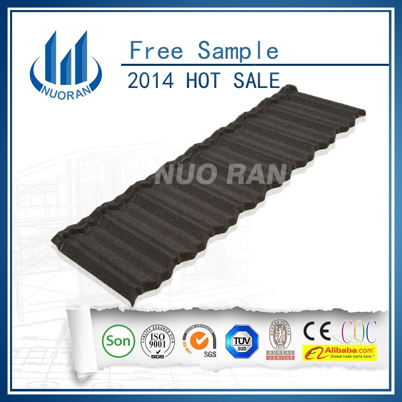 NUORAN metal spanish tile roofing /colored magnetic sheets /stone chip tile