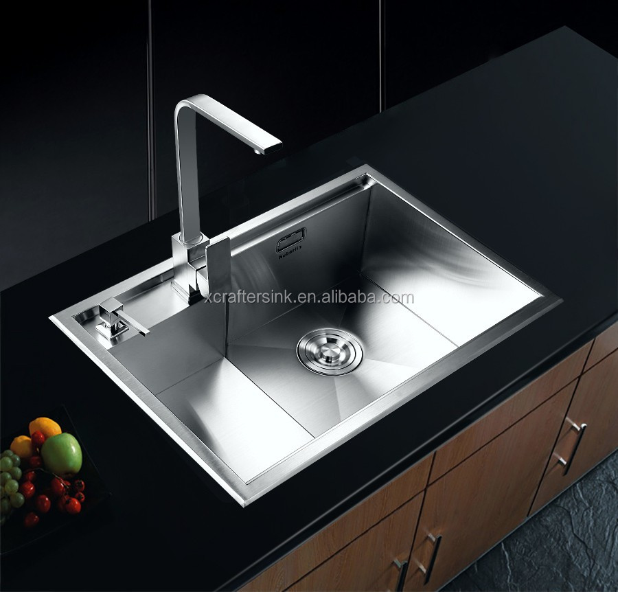 modern Low harga sale customized hole straight stainless steel apron single bowl <strong>kitchen</strong> <strong>sink</strong>
