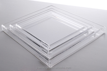 Deluxe Customiezed acrylic clear lucite serving tray wholesale