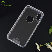 Crystal TPU Arcylic hybrid shockproof clear case for iPhone X, Transparent anti-scratch hard back case for iPhone X