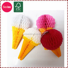 2014 christmas Party Decorations Novelty Paper Ice Cream Cone