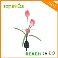Low voltage garden pathway solar led tulip light solar flower light