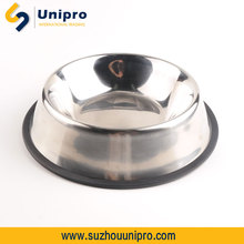 polished anti-skip stainless steel dog bowl dog pet products