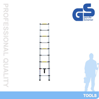 telescopic aluminum useful and popular ladder,aluminum extension ladder QH-A9 with EN131