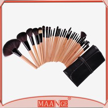 Professional makeup brushes 2015 32 PCS Makeup brushes Make up Tools goat hair kit of Cosmetic Set Brush+ Black Leather Bag
