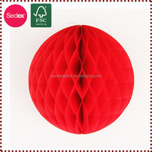 Red big paper honeycomb balls as chinese new year gift 2015