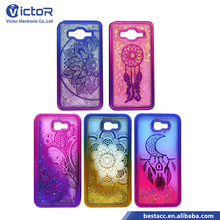 Custom double color electroplating TPU cover case quicksand liquid phone case for Samsung Galaxy Grand Prime G530