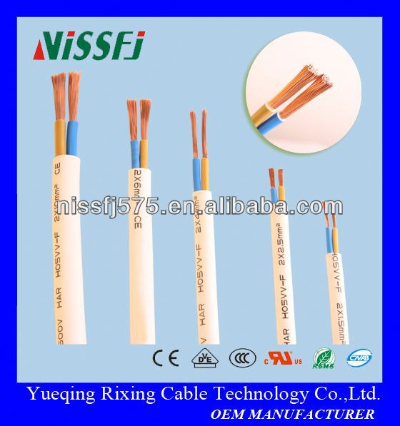 PVC double insulated wire multi-core flexible round h05vv-f power building power supply electric cca/copper stranded cable