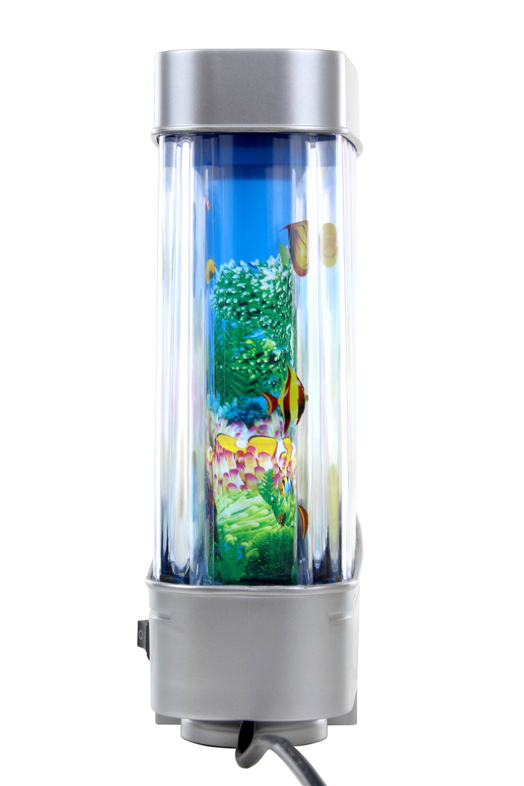 Fake Aquarium Tank Fish Moving Night Light For Kids Room