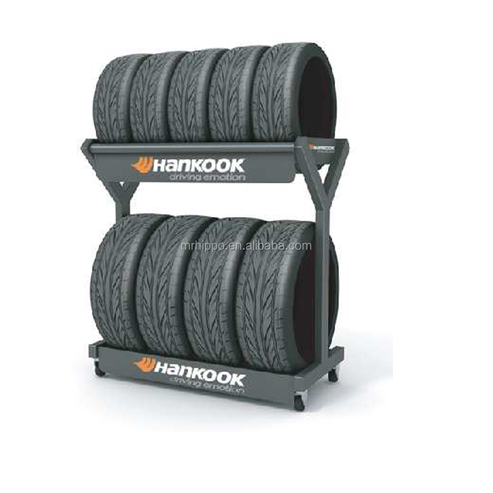 Floor Type metal tire <strong>rack</strong> Steel Wheel Frame Warehouse Tire Display <strong>Rack</strong>