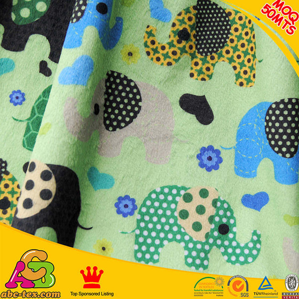 Oeko-tex 100 China produced high quality ultra soft 100% polyester printed polar fleece