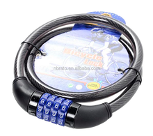 safe 4 code combination cable lock for bicycle