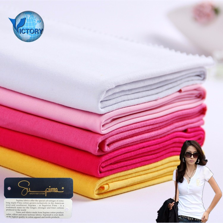 Knitted 100% Cotton, Cotton Spandex Plain Dyed Single Jersey Fabric