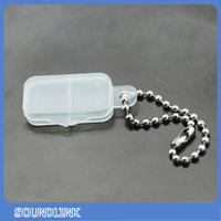 Hearing accessory plastic battery carrying case to carry hearing battery