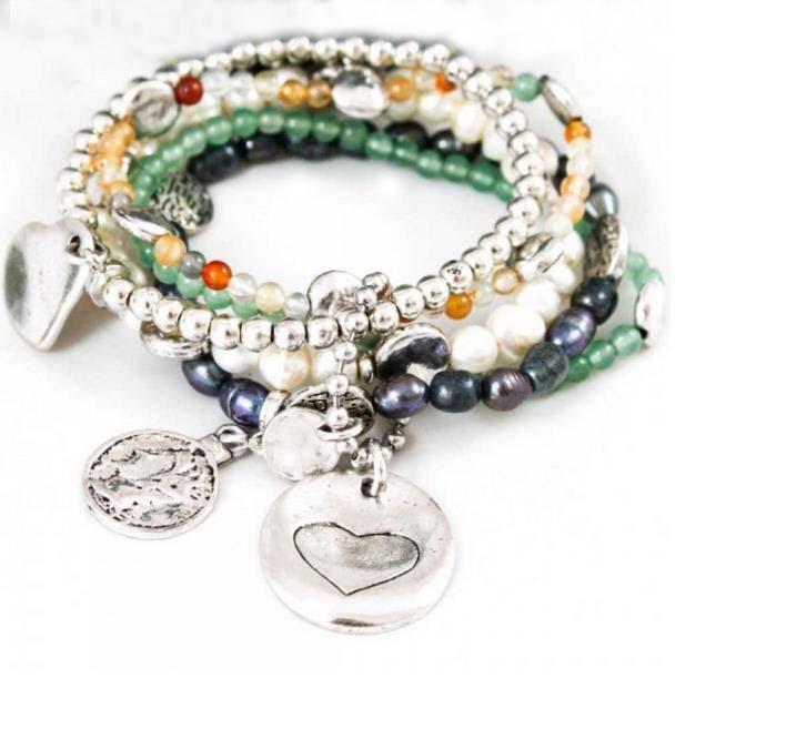 Soyagift Handmade Love Heart Simple Charm Infinity Leather Braid Rope Bracelet