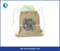 Jute Stylish Computer Backpack Bags Drawstring Laptop Bag Sale For Promotion