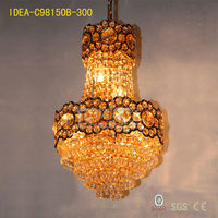 C98150B ball shape crystal chandelier,round crystal ball chandelier,led crystal light