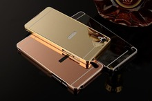 Luxury Metal Air AluminumMirror Hard Back 2 in 1 Frame Case For Sony Xperia Z1