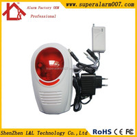 Wireless Flashing Outdoor Alarm Siren with Strobe Light