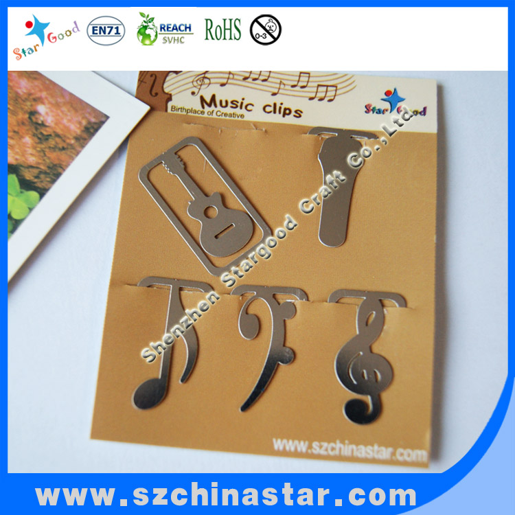 Decoration musical notes metal bookmark