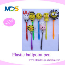 fancy design pen with light led, top ballpoint pen with head, princes head pen