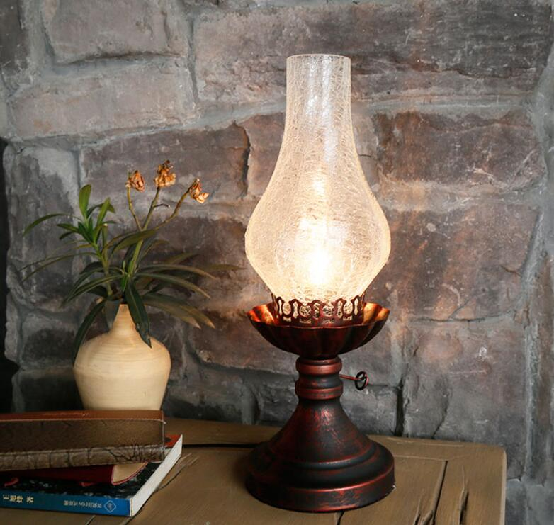 Artistic Style Decorative Retro Bedlamp Desk Lamp Oil Light