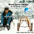 Wood children outdoor unfolable snow sled ZY-70701-80/100/110