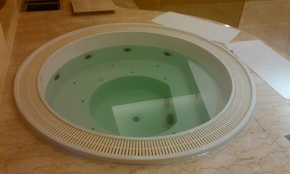 Hot sale new round acrylic bathtub,indoor whirlpool bathtub 6 person hot tubs