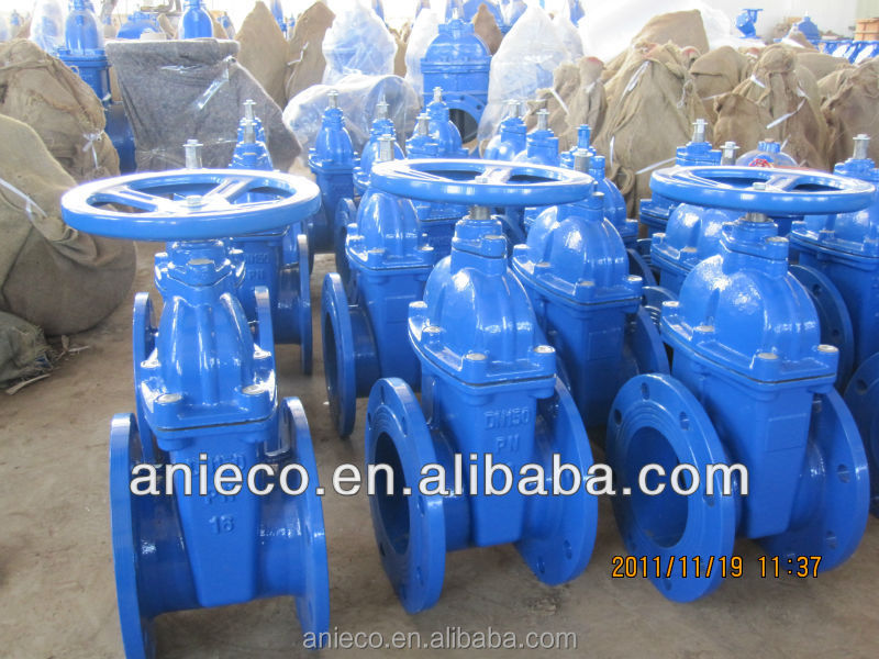 ductille iron resilient seated waterworks gate valve