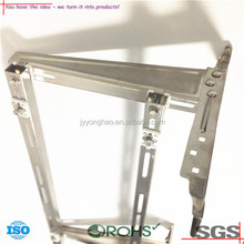 OEM ODM chinese best selling high quality custom connecting stainless steel lcd tv wall folding shelf l bracket manufacturer