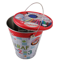 small metal tin buckets promotional for water