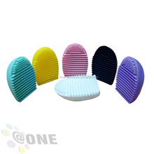 2017 Wholesale Cosmetic Brushes Cleaner Makeup Brush Cleaning Mat Silicone Makeup Brush Cleaner