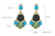 New Design Shiny Crystal Drop Shape Colorful Artificial Synthetic Gemstone Earrings Wholesale